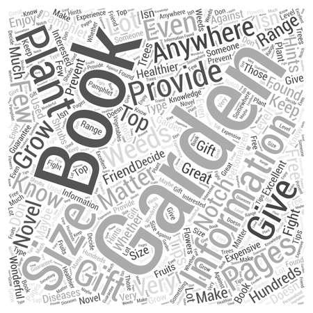 Gardening Book Word Cloud Concept Ilustração