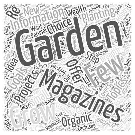 perusal: gardening magazines Word Cloud Concept Illustration