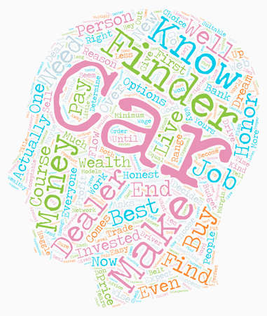 Get The Best Car For You Over The Web text background wordcloud concept Illustration