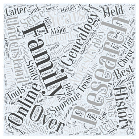 genealogy online Word Cloud Concept