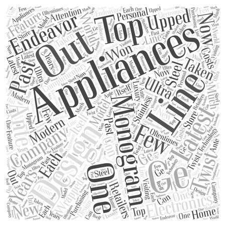 GE Monogram Appliances Word Cloud Concept Illustration