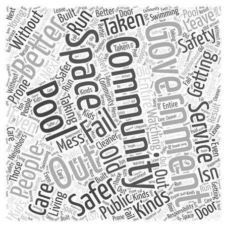 safer: Getting the Government out of Community Service Word Cloud Concept