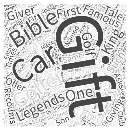 Gift Giving Superstitions and Legends Word Cloud Concept Stock Photo