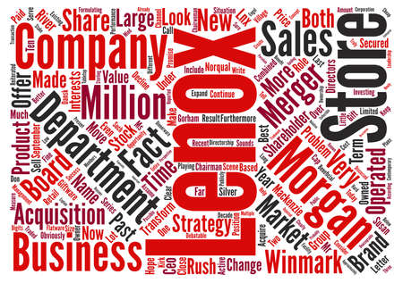 An Analysis Of Lenox LNX Word Cloud Concept Text Background Stock Photo