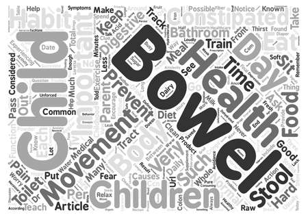 constipated: Children Get Constipated Too text background word cloud concept