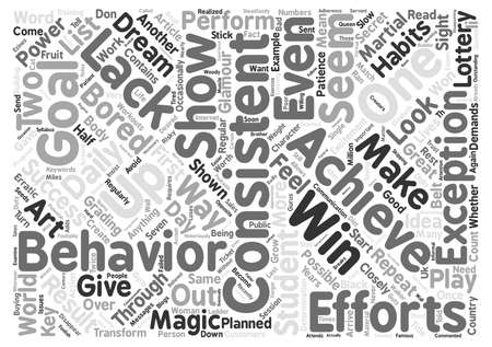 lacks: Achieve Your Goals Through The Magic Of Consistency Word Cloud Concept Text Background