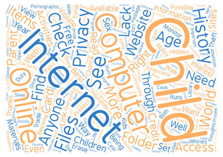 vying: BWI should you violate your childs privacy text background word cloud concept