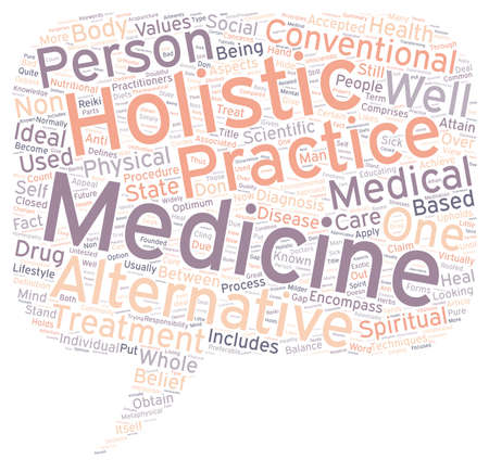 wholeness: Holistic Medicine As Compared With Other Medical Practices text background wordcloud concept Stock Photo