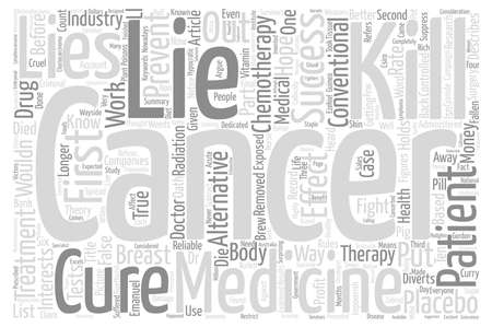 impoverish: Cancer Lies Impoverish You Before You Die part text background word cloud concept