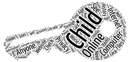 vying: BWI should you violate your childs privacy Word Cloud Concept Text Background Stock Photo