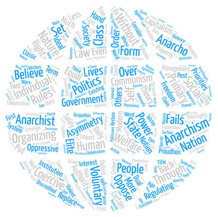 Anarchism for a Post modern Age Text Background Word Cloud Concept