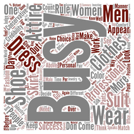 A Clothes Encounter In The Business World text background word cloud concept Stock Photo