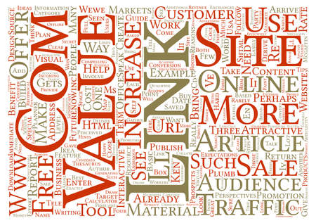perceived: Build Your Site s Link Value text background word cloud concept Stock Photo