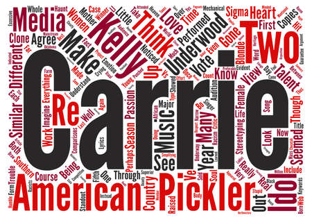 Carrie Underwood Vs Kellie Pickler text background word cloud concept Stock Photo