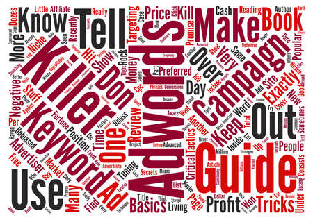 adwords: Adwords Killer Review My Adwords Killer Case Study Word Cloud Concept Text Background
