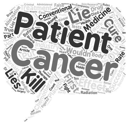 impoverish: Cancer Lies Impoverish You Before You Die part Word Cloud Concept Text Background