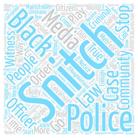Concerned Citizen Witness Or Snitch text background word cloud concept