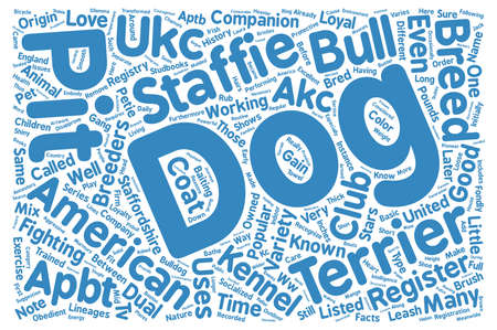 make known: bull dog pit terrier text background wordcloud concept Stock Photo