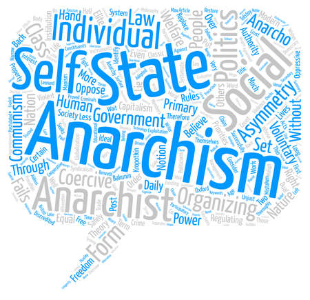 failed politics: Anarchism for a Post modern Age text background wordcloud concept
