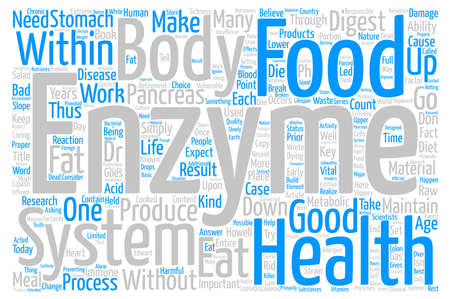 replenish: Enzymes and You Word Cloud Concept Text Background