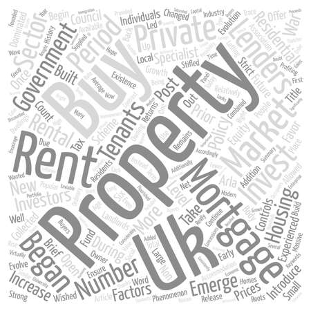 prior: A Brief History Of Buy To Let Mortgages text background word cloud concept