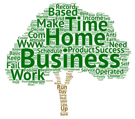 make summary: Choose To Be Successful In Your Home Business text background word cloud concept