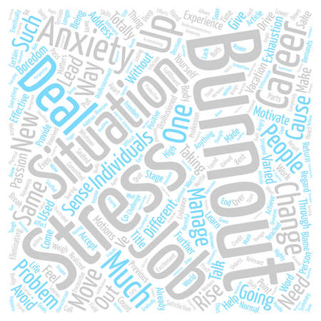 Burnout Move On And Rise Up Word Cloud Concept Text Background Stock Photo