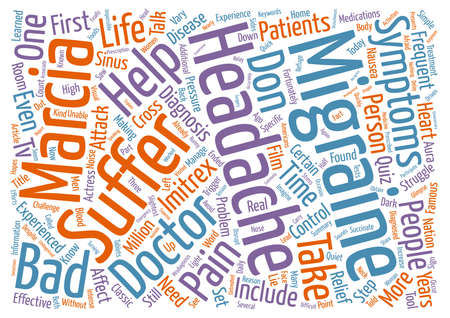 Don t Let Frequent Bad Headaches Control Your Life text background word cloud concept Stock Photo