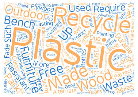 Advantages of Recycled Plastic Furniture text background word cloud concept