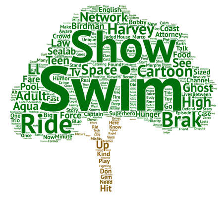 Adult Swim You Must Be This High To Ride This Ride text background word cloud concept Stock Photo