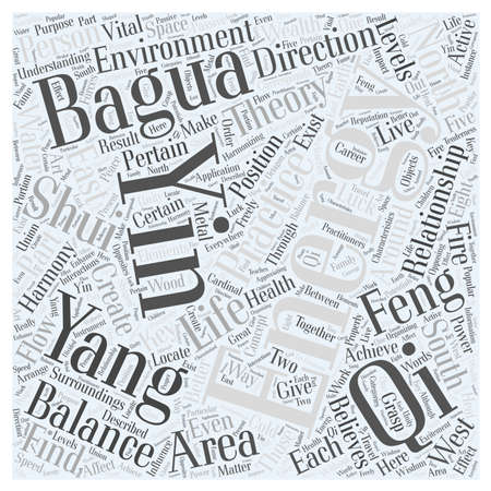Harmonizing with Feng shui Word Cloud Concept