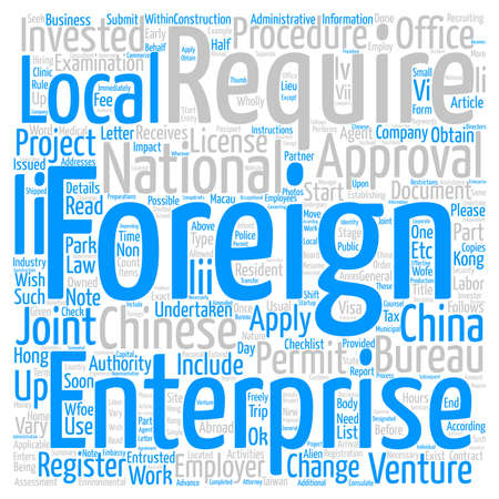 China Company Start up Checklist Part III text background word cloud concept Stock Photo