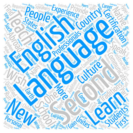 English As A Second Language text background word cloud concept