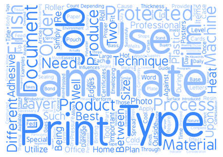enveloping: A Buyers Guide To Laminators And Laminate text background word cloud concept
