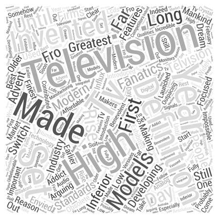 fanatics: high definition television Word Cloud Concept