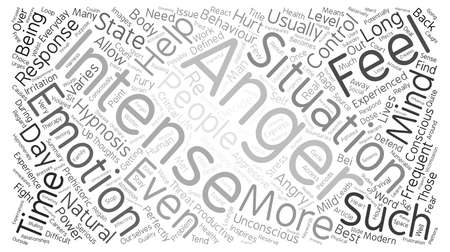 potentially: Control Anger With Hypnosis text background word cloud concept