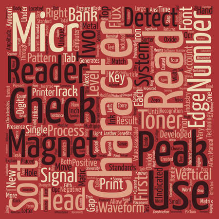 developed: A Concise Guide To MICR And Associated Technologies Word Cloud Concept Text Background