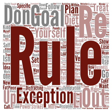 Exceptions Break The Rule text background word cloud concept Stock Photo