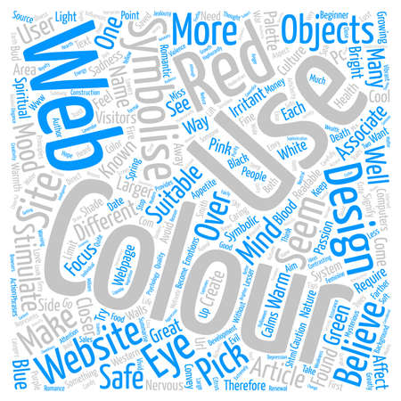 Color Psychology for webpages text background word cloud concept