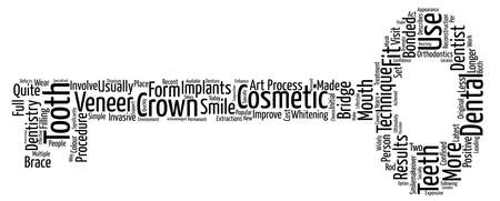ultimately: Cosmetic Dentistry Latest Techniques Explained Word Cloud Concept Text Background