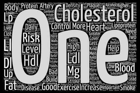 huh: Cholesterol Good Bad Huh Text Background Word Cloud Concept Stock Photo
