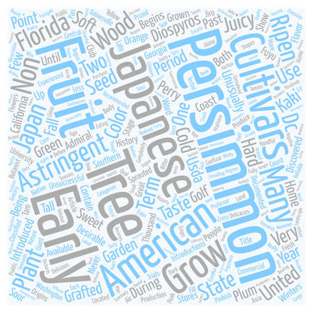 introductions: History Of Persimmons Diospyros Kaki L text background wordcloud concept