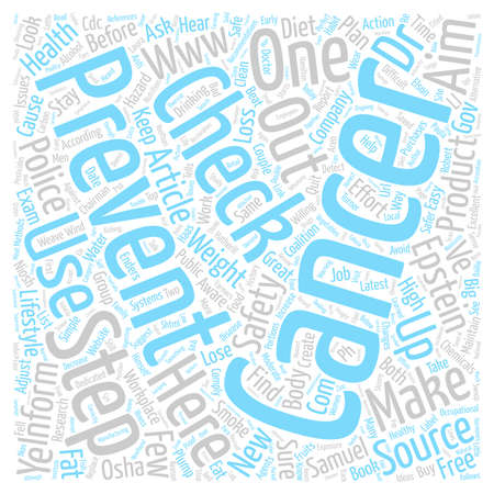 Double Whammy Prevent Cancer and Lose Weight in One Fell Swoop text background word cloud concept