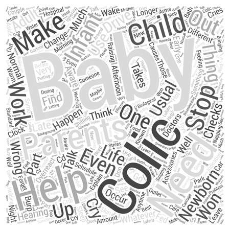 colic: Help For Colic Word Cloud Concept Stock Photo
