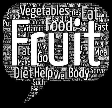 enrich: Enrich Your Diet With Fruits And Vegetables text background word cloud concept