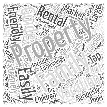 furnishings: Guide to Vacation Rental Properties Word Cloud Concept