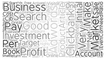 adwords: AdWords ClickBank Breaks PROFIT Records text background word cloud concept