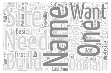 domains: Domains Names Web Design Word Cloud Concept Text Background