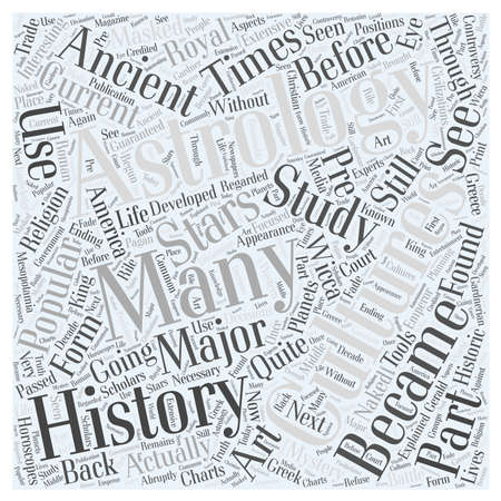 quite time: history of astrology Word Cloud Concept