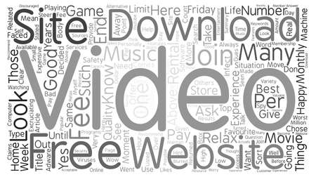 About Free Video Download And The Features Of A Good Free Video Download Site Word Cloud Concept Text Background Stock Photo